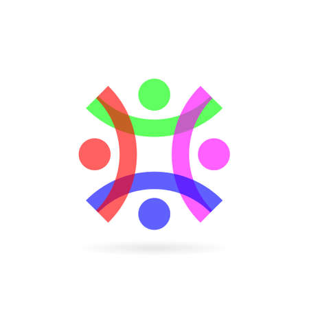 transparent people group vector logo