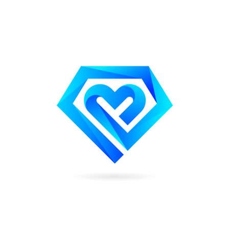 diamond love vector design