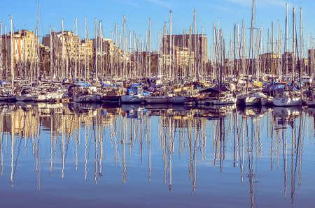 boats at Barcelona port