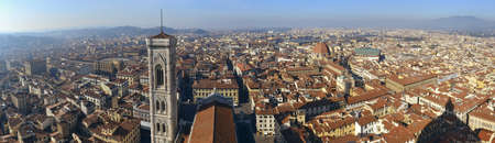 Beautifull panoramic shoot of Florence from the top of the dome Editorial
