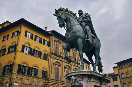Gorgeous Florence Medici sculpture with a building behind