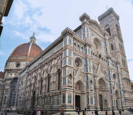 Santa Maria di Fiore Cathedral full view from the ground Editorial