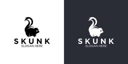 Skunk silhouette logo design templates Logo