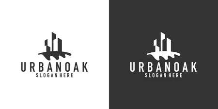 Urban oak logo design template