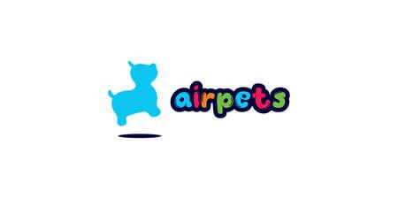 Air pets logo design templates Vectores