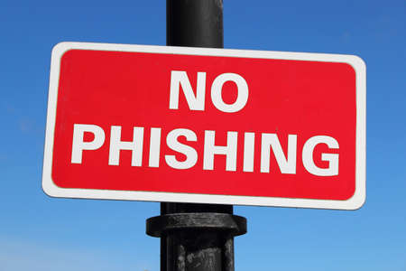 internet fraud: No Phishing Sign  Internet and IT security related