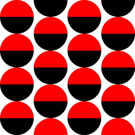 Alternating Crescents 02 -  Seamless Vector Pattern - Red and Black