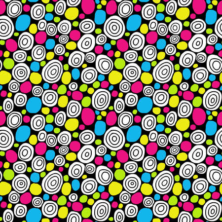 Hand Drawn Circles - Seamless Vector Pattern - Colours 02 Stock fotó - 131431514