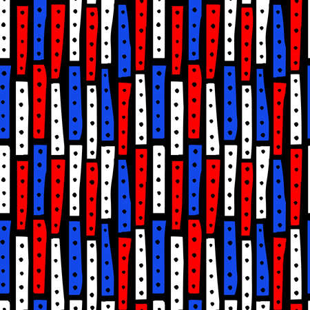 Abstract Strips 101119 Vertical - Seamless Vector Pattern - Colours 01 on Black