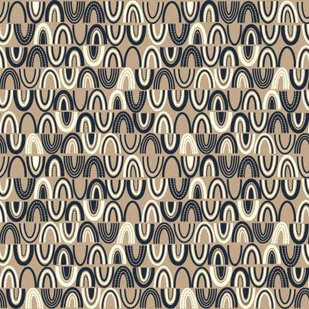 Crescent/Arch Shape Abstract Pattern