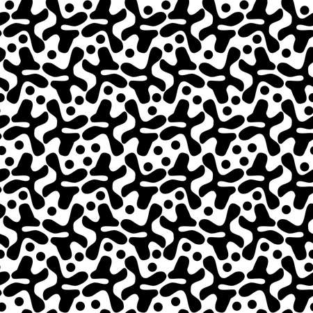 Irregular Shapes Pattern 120520 - Black and White