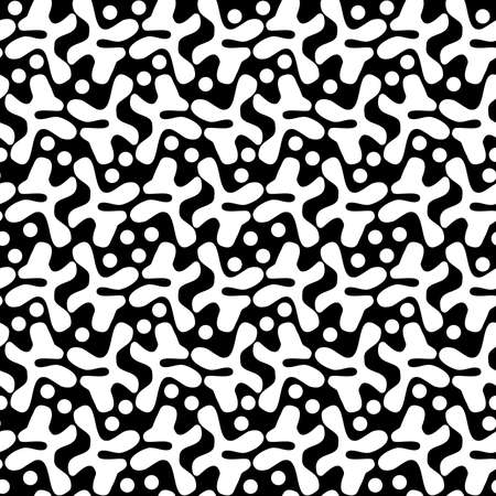 Irregular Shapes Pattern 120520 - White and Black Illusztráció