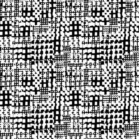 Abstract Seamless Grunge Texture Pattern (4up) - White and Black