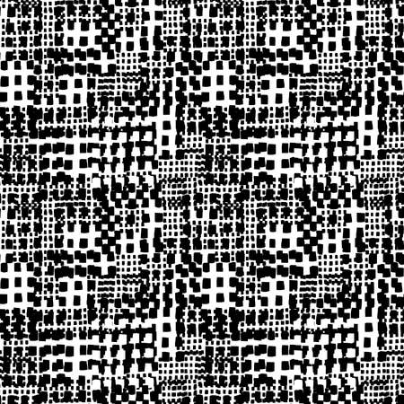 Abstract Seamless Grunge Texture Pattern (4up) - Black and White