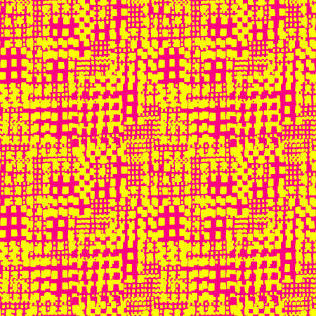 Abstract Seamless Grunge Texture Pattern (4up) - Yellow and Red