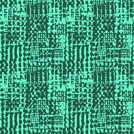 Abstract Seamless Grunge Texture Pattern (4up) - Turquoise and Dark Green