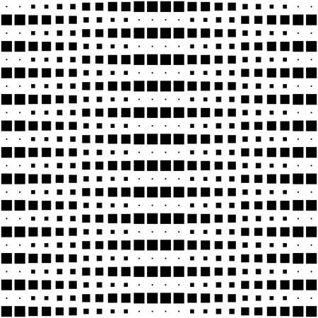 Geometric Interwoven Halftone Seamless Mosaic Pattern - Black on White Illusztráció