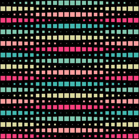 Geometric Interwoven Halftone Seamless Mosaic Pattern - Colours