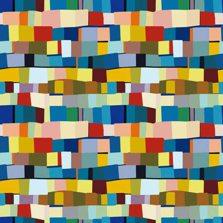 Abstract Colour Patchwork - Seamless Vector Pattern