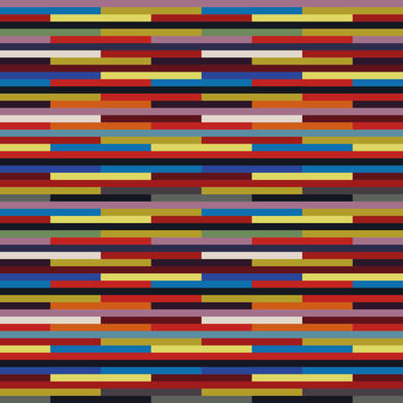 Alternating colour stripes patchwork in seamless pattern