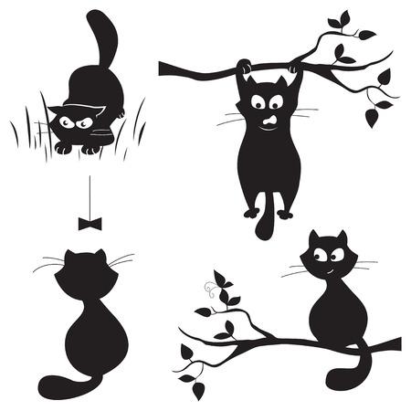hunter playful: set of cats