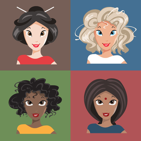 nationalities: Women in different nationalities