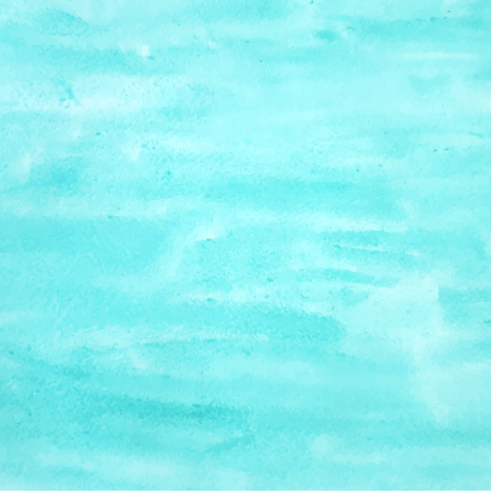 Abstract turquoise watercolor background for your design Vettoriali