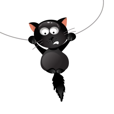 incident: Humorous illustration of a black cat incident