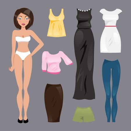 mu�ecas de papel: Colecci�n de ropa de moda para las mu�ecas de papel