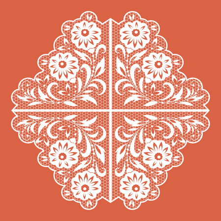 diameter: Decorative circular floral lace pattern for your design