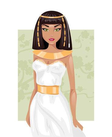 cleopatra: Beautiful young Egyptian woman in national costume