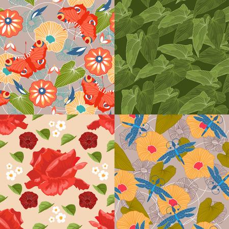 enchanting: Set of floral seamless patterns for your design