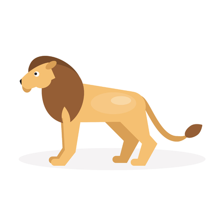 standing lion: Illustration of a lion on a white background