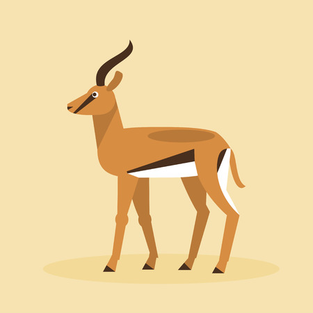 Impala: Illustration of an antelope on a yellow background