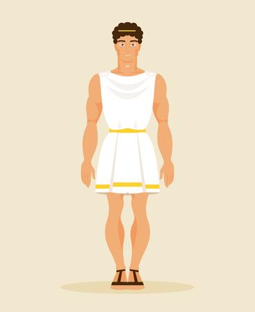 hellenistic: Illustration Greek man in a historical costume