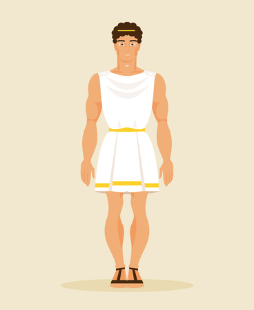 Illustration Greek man in a historical costume
