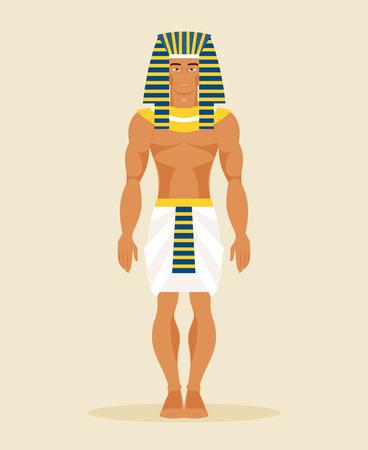 Ilustración de un hombre egipcio en un traje histórico Ilustración de vector