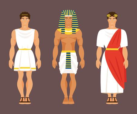 Grec ancien, égyptien et romain en costumes nationaux