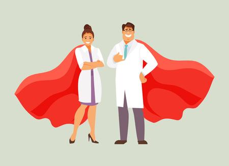 Vector de doctores superhéroes