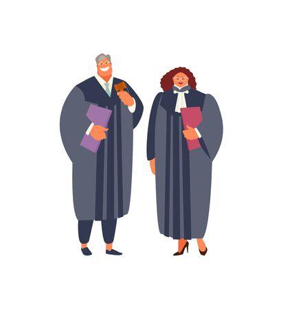 Judge man and woman vector