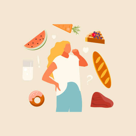Intuitive nutrition food selection vector