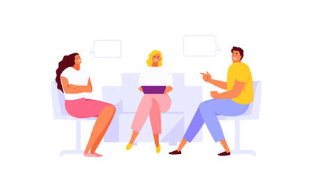 Psychologist family therapy vector illustration 矢量图像