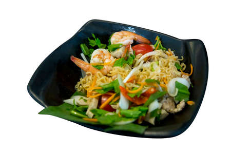 Spicy mama salad with shrimp or Thai Mama Instant Noodles, Spicy noodle Banque d'images