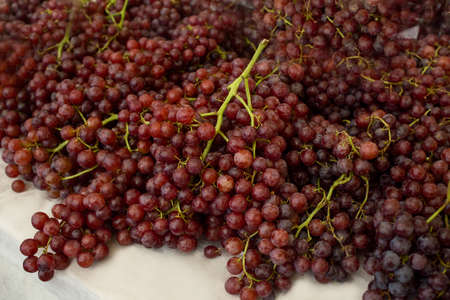 Healthy fruits Red wine grapes texture background