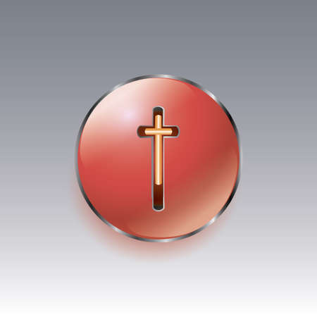 bezel: yellow Christian cross on a red dome with chrome bezel