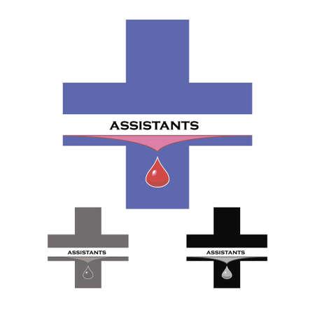 medical assistant: Pegatina asistente m�dico o de un donante da sangre