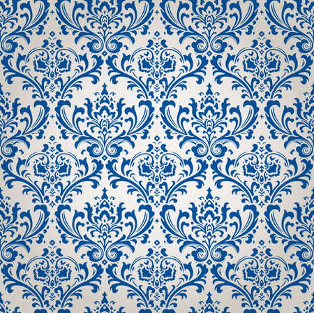 Vintage Damask Brocade Floral Wallpaper Background Texture Vector