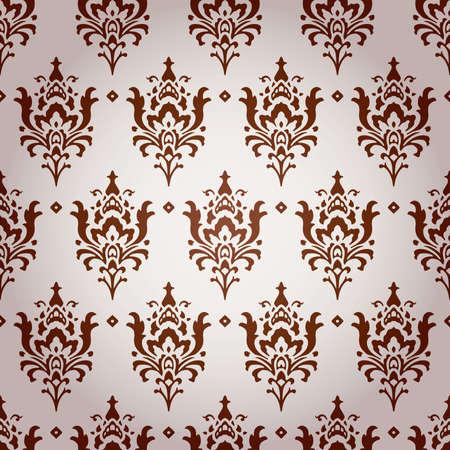 Vintage Damask Brocade Floral Wallpaper Background Texture Stock Vector - 17033570