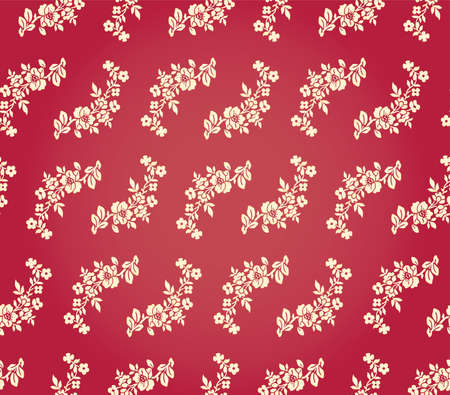 Vintage Floral Damask Brocade Wallpaper Background Texture Stock Vector - 17033577