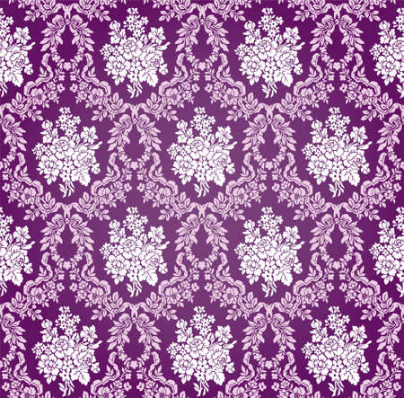 Vintage Floral Damask Brocade Wallpaper Background Texture Stock Vector - 17033591